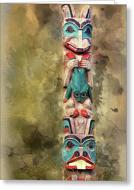 Ketchikan Alaska Totem Pole Greeting Card