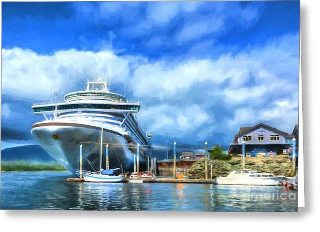 Ketchikan Harbor Greeting Card