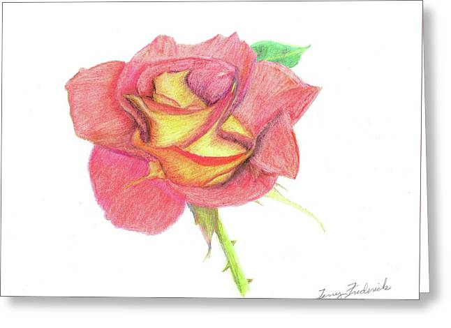 Ketchup And Mustard Rose Greeting Card