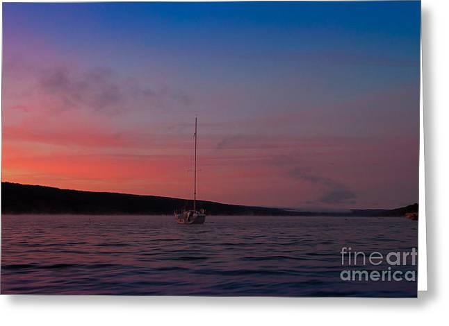 Keuka Lake Sunrise Greeting Card