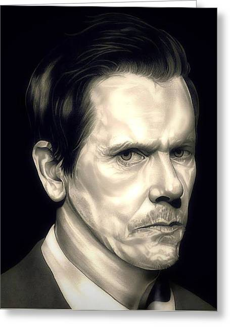 Kevin Bacon - The Following Greeting Card by Fred Larucci