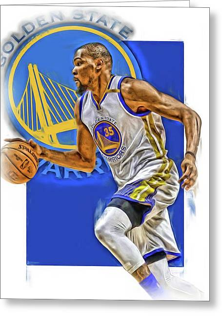 Kevin Durant Golden State Warriors Oil Art Greeting Card