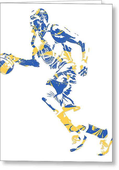 Kevin Durant Golden State Warriors Pixel Art 16 Greeting Card