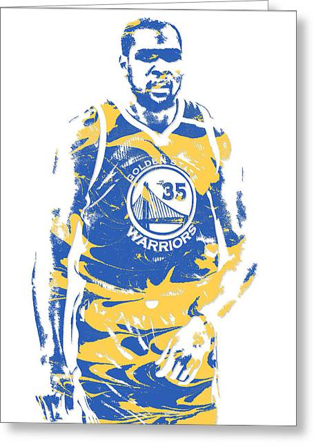 Kevin Durant Golden State Warriors Pixel Art 17 Greeting Card