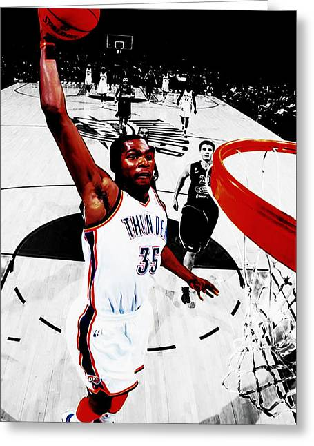 Kevin Durant Taking Flight Greeting Card