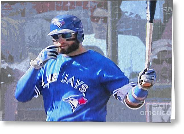 Kevin Pillar At Bat Greeting Card