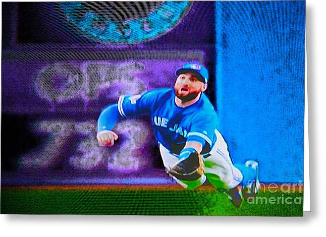 Kevin Pillar In Action II Greeting Card