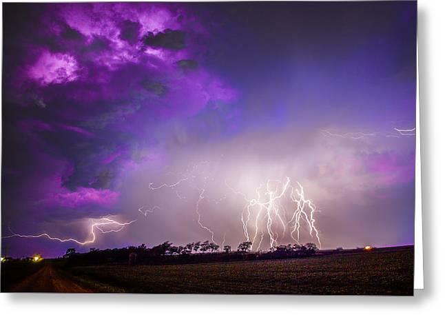 Kewl Nebraska Cg Lightning And Krawlers 038 Greeting Card