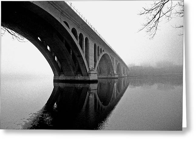 Key Bridge In Fog Greeting Card
