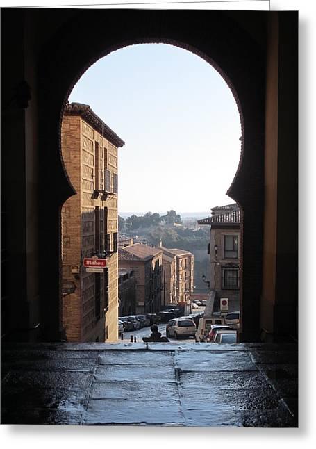 Key Hole View Of Tuscany Greeting Card