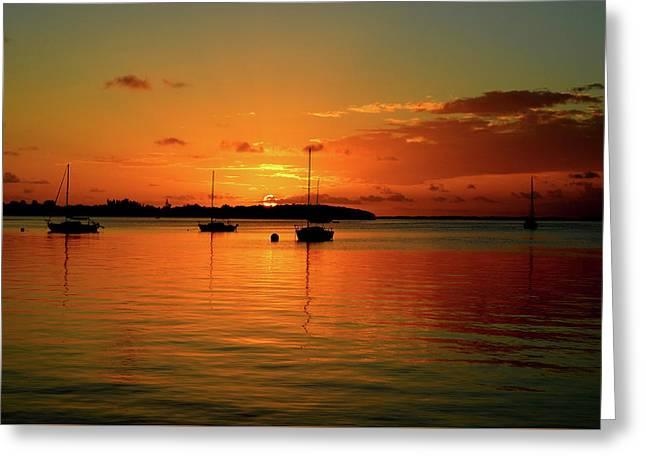 Key Largo Sunset Greeting Card