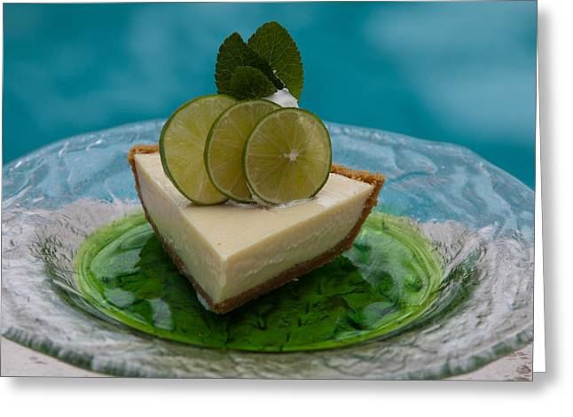 Key Lime Pie 25 Greeting Card by Michael Fryd