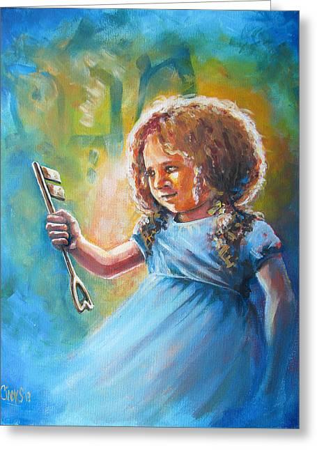 Key Of Heaven Greeting Card