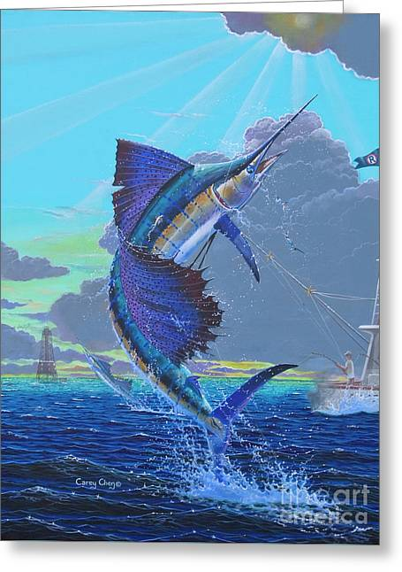 Key Sail Off0040 Greeting Card by Carey Chen