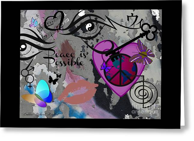 Key To Energy Of Peace  Greeting Card by Bobbee Rickard
