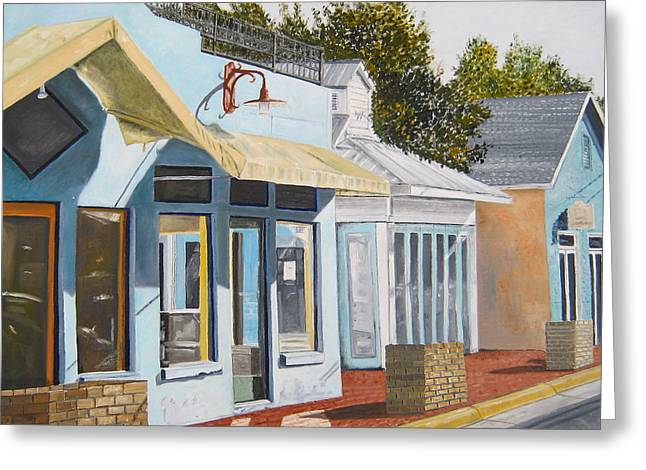 Key West Bahama Village Greeting Card by John Schuller