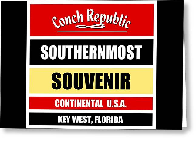 Key West Florida Southernmost Design Greeting Card