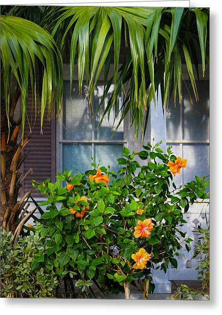 Key West Garden Greeting Card