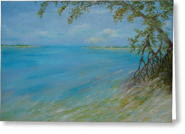 Key West Hanging Out Greeting Card by Phyllis OShields