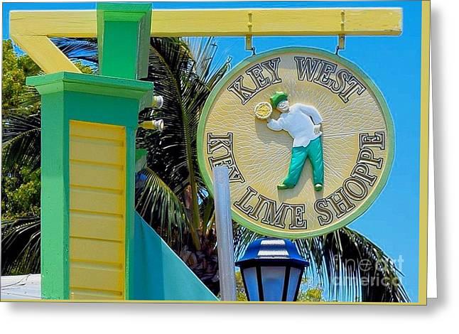Key West Key Lime Shoppe Greeting Card