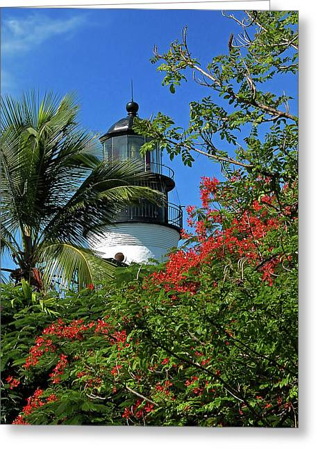 Key West Lighthouse Greeting Card by Frank Mari