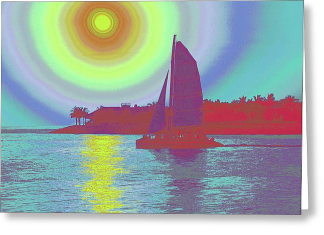 Key West Sun Greeting Card by Steven Sparks