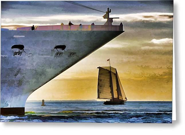 Key West Sunset Sail Greeting Card by Dennis Cox WorldViews