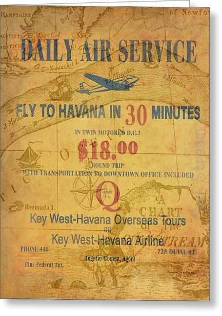Key West To Havana Greeting Card