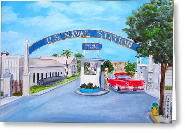 Key West U.s. Naval Station Greeting Card