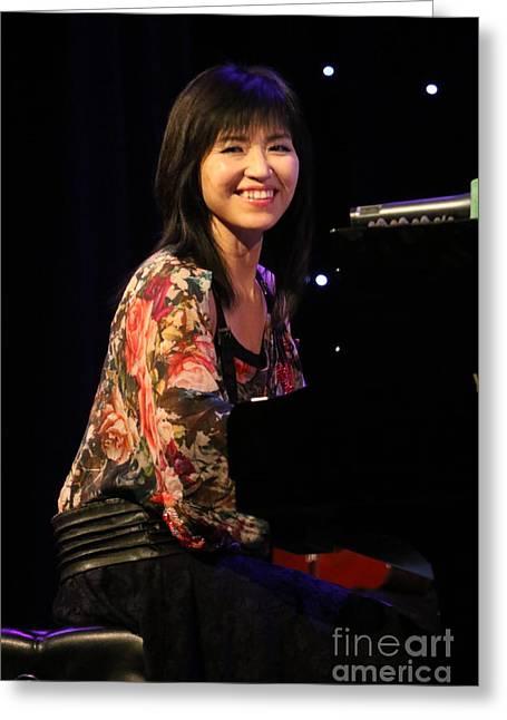 Keyboardist Keiko Matsui Greeting Card by Concert Photos