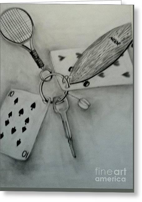 Keychain Of Joy Greeting Card by Yulia Serova
