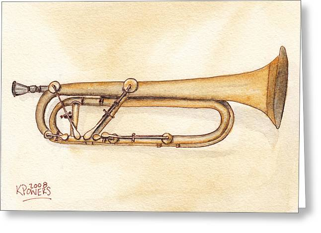 Keyed Trumpet Greeting Card by Ken Powers