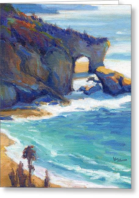 Greeting Card featuring the painting Arch At Treasure Island by Konnie Kim