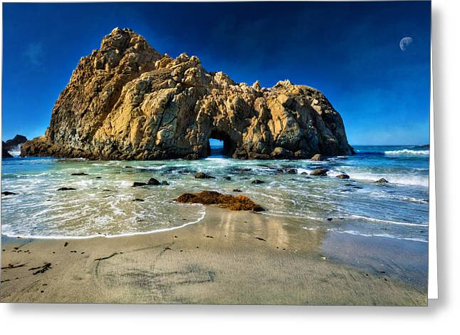 Keyhole Rock At Pheiffer Beach #12 - Big Sur, Ca Greeting Card