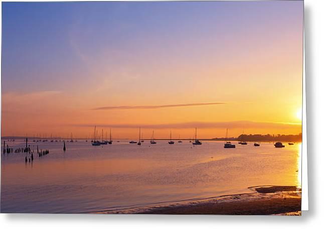 Keyport Harbor Sunrise  Greeting Card
