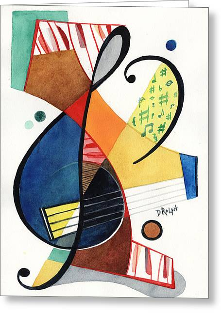 Keys And Clef Greeting Card