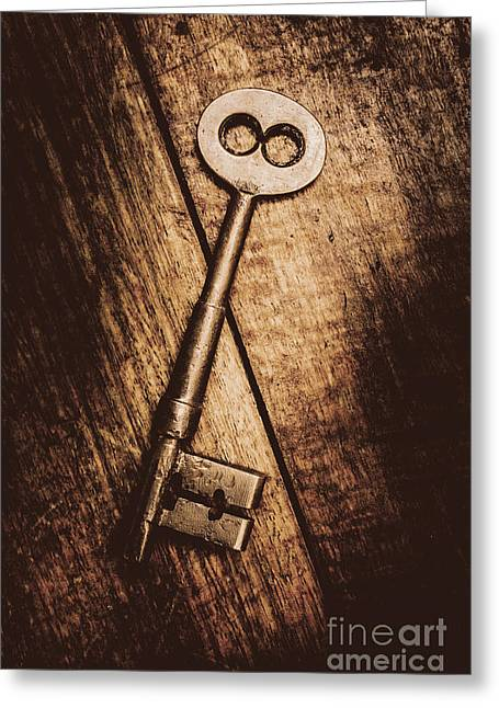 Keys And Crossing Lines Greeting Card by Jorgo Photography - Wall Art Gallery