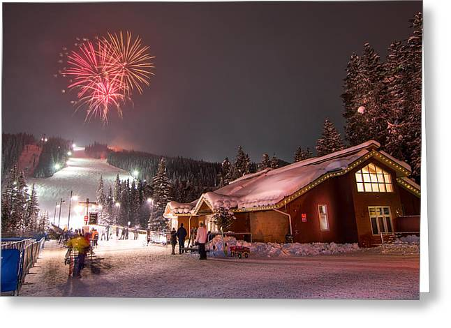 Keystone Resort Fireworks Greeting Card
