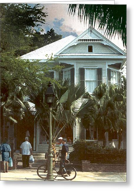 Greeting Card featuring the photograph Keywest by Steve Karol