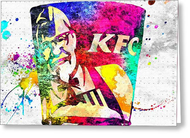Kfc Grunge Greeting Card by Daniel Janda