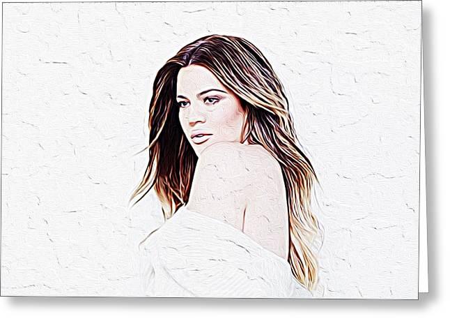 Khloe Kardashian Greeting Card