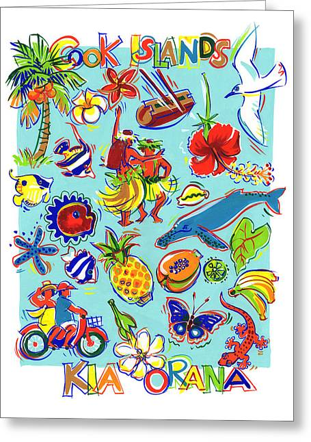 Kia Orana Cook Islands Greeting Card