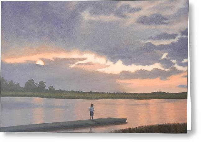 Kiawah Sunset Greeting Card