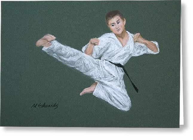 Kick Fighter Greeting Card by Marna Edwards Flavell