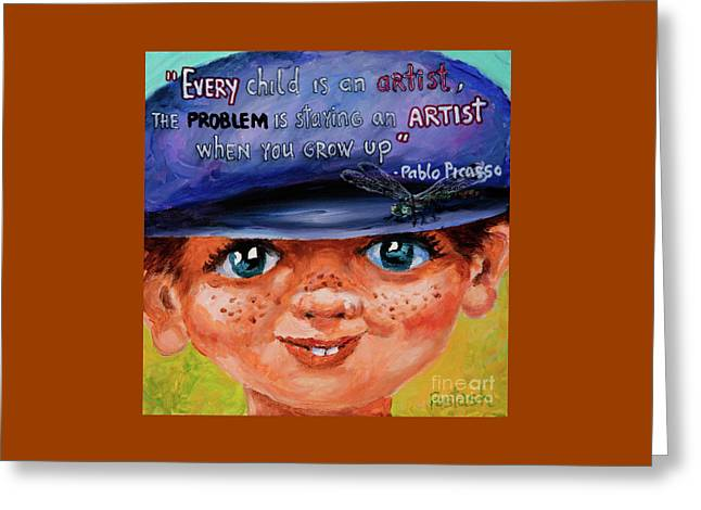 Greeting Card featuring the painting Kid by Igor Postash