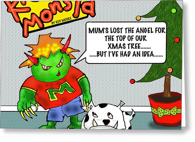 Kid Monsta Xmas 1 Greeting Card