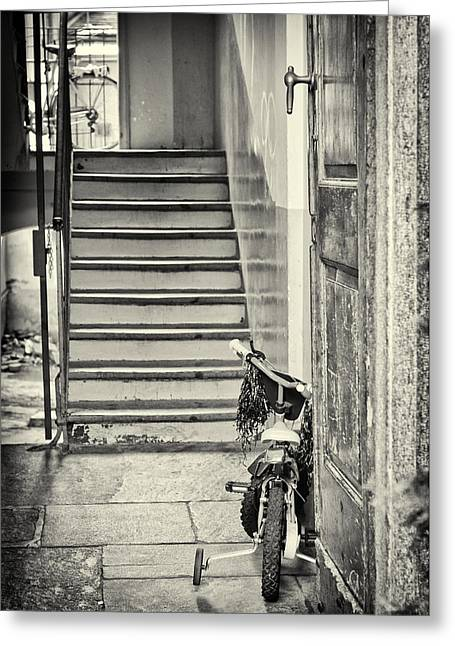 Silvia Ganora Greeting Cards - Kids bike Greeting Card by Silvia Ganora