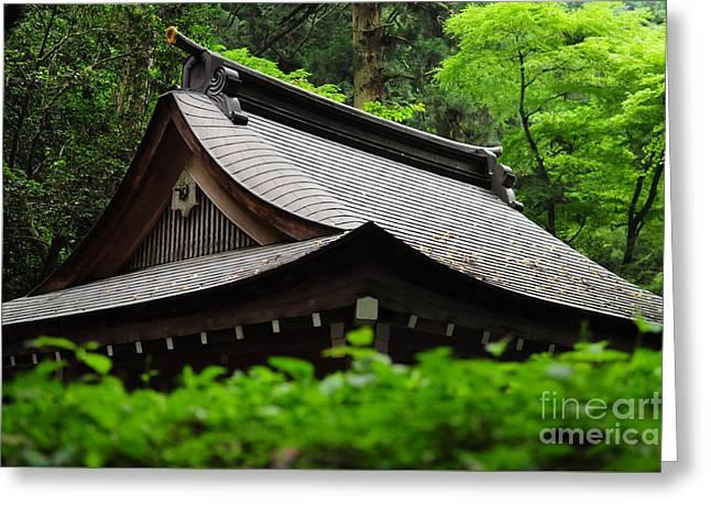 Kifune Shrine Greeting Card by Stevyn Llewellyn