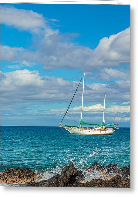 Kihei Sailboat 4 Greeting Card