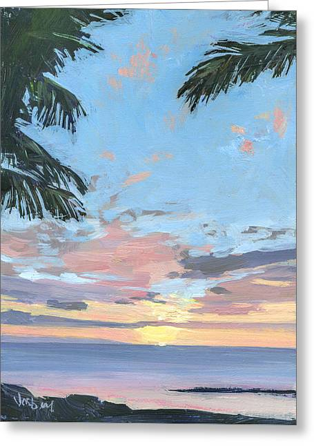 Kihei Sunset Greeting Card by Stacy Vosberg